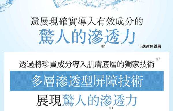白漢白彩化妝水滲透力