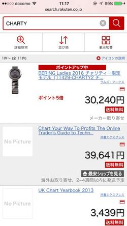 CHARTYの販売価格2