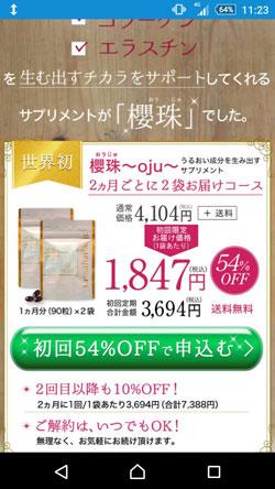 櫻珠(おうじゅ)の販売価格1