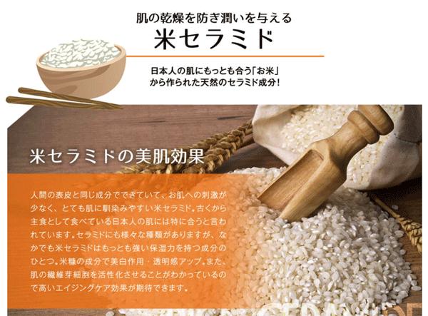 クレムドアン ミルククリームクレンジングに含まれる米セラミド