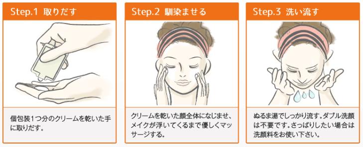 クレムドアン ミルククリームクレンジングの正しい洗顔方法
