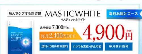 マスティックホワイトの販売価格
