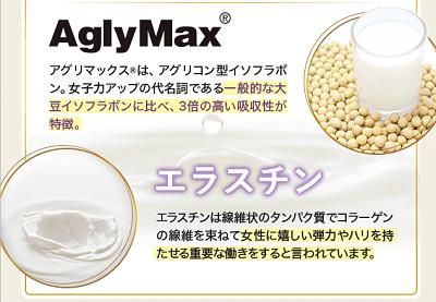 【AglyMax】と【エラスチン】